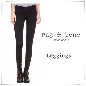 Rag and Bone Leggings Skinny Legs Pants Black